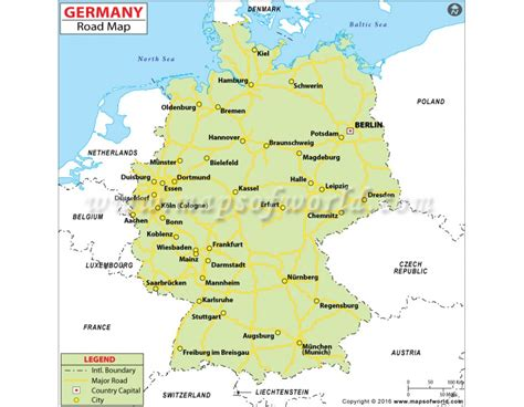 road map of germany buy germany road map