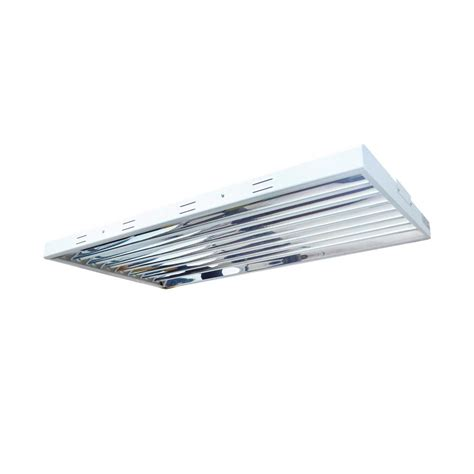 T5 High Output Light Fixtures 4 Ft 8bulb T5 High Output Fluorescent Grow Light Fixture Silver