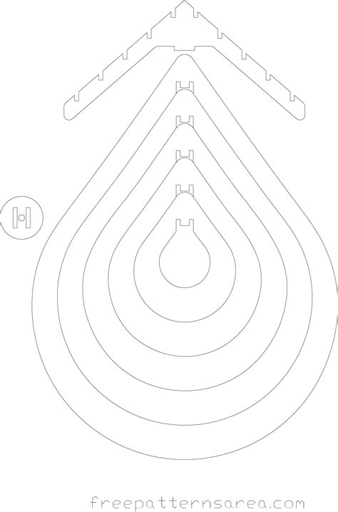 dxf templates drop chandelier light free dxf file for laser cutting