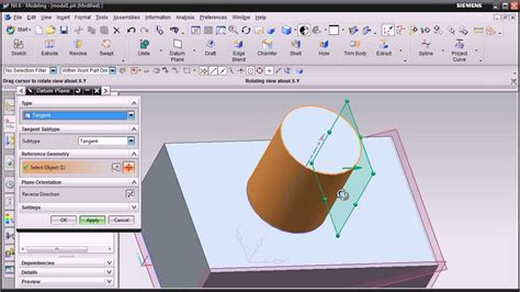 youtube tutorial nx siemens nx training tutorial ug nx cad tutorial datum