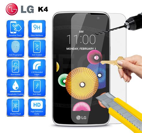 Tempered Glass Lg K4 lg k4 lte 2016 tempered glass screen protector anti