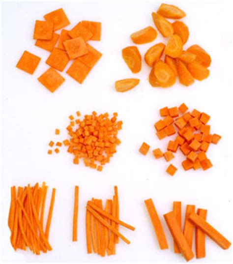 Kinds Of Kitchen Knives vegetable cutting techniques