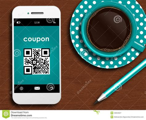 Coupons On Your Mobile Phone by Mobile Phone With Discount Coupon Cup Of Coffee And