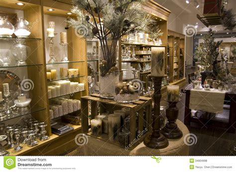 home decor boutique home decor store stock photo image of lighting shelves