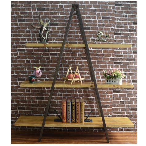 triangle ladder bookshelf by home elements