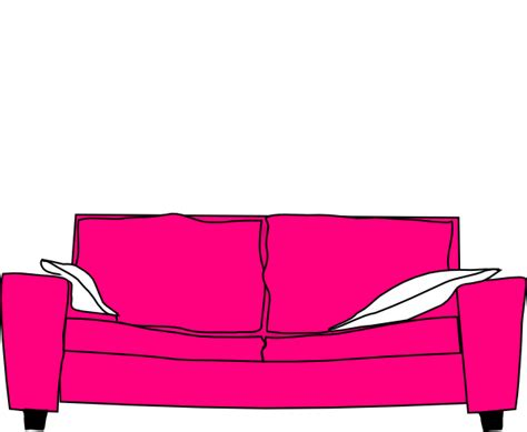 cartoon sofa bed pink couch with pillows clip art at clker com vector