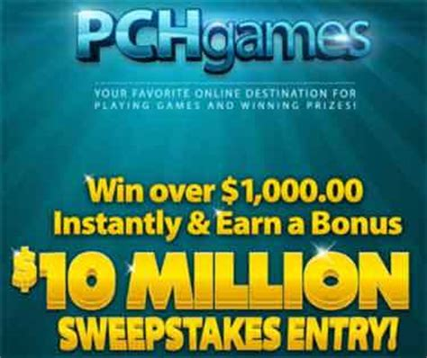 Pch Sweepstakes Games And More - pchgames com pch games instant win games and 10 million sweepstakes