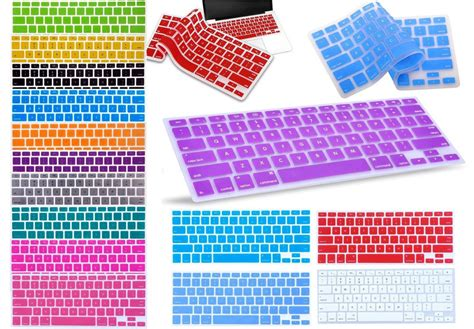 Keyboard Cover Skin For Macbook 17 With Mac Proair Gradient Color silicone keyboard skin cover for apple macbook pro air mac