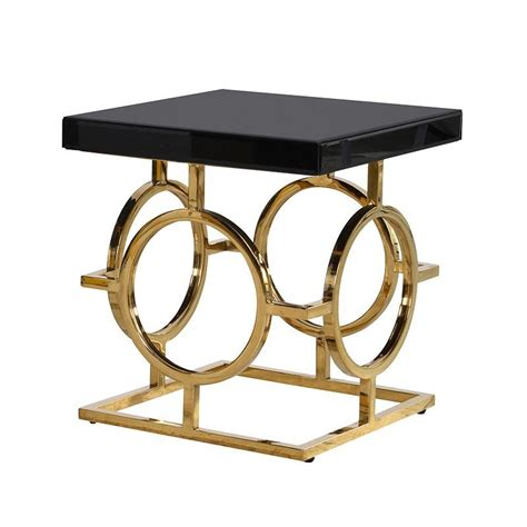 black and gold side table the mackintosh gold black glass side table shropshire