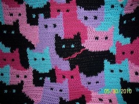 pattern for cat afghan free pattern cats afghan by sandra miller maxfield