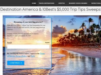 Usa Today Sweepstakes - usa today 10best trip tips sweepstakes sweepstakes fanatics