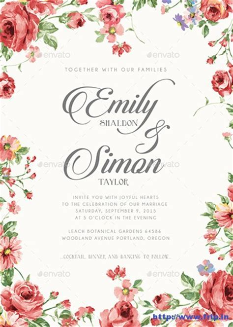 100 Best Wedding Invitation Card Print Templates 2015