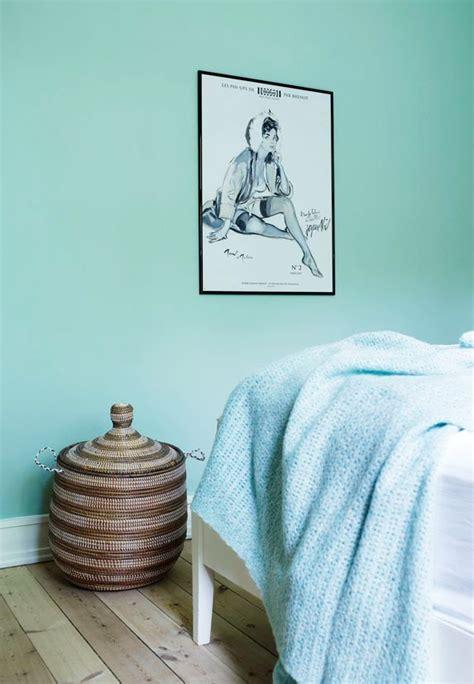 scandinavian mint bedroom interiors  color