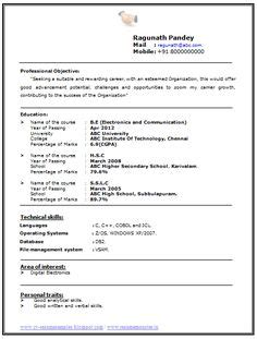 Resume Title Exles For Entry Level