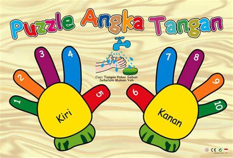 Mainan Edukatif Kayu Puzzle Telapak Tangan puzzle sticker tangan mainan kayu