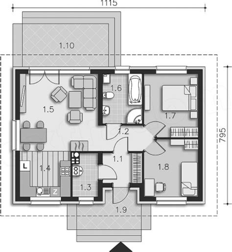 proiecte fara etaj proiect casa fara etaj 2 dormitoare