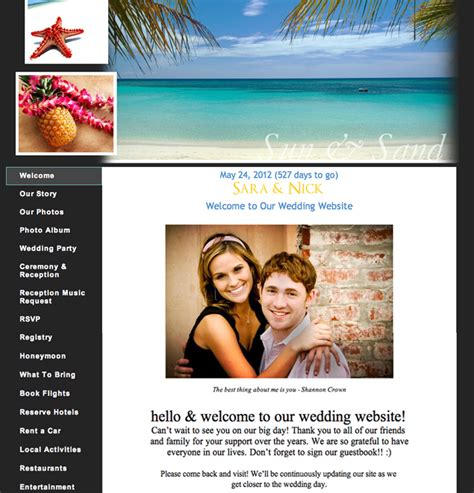 layout of wedding website wedding planning 101 build an awesome wedding website