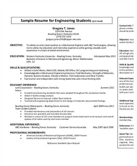 Mechanical Engineering Resume Template Entry Level by Entry Level Mechanical Engineer Resume Resume Ideas