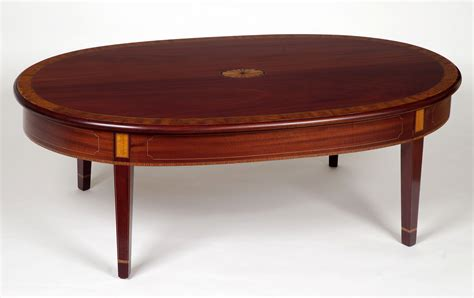 Mahogany Coffee Table Inlaid Coffee Tables Federal Paterae Mahogany Coffee Table