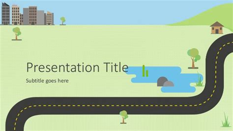 powerpoint road template animated powerpoint presentation template roadmap infographic
