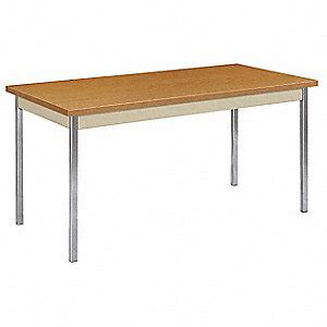 hon utility table 60 x 30 hon utility table with harvest tabletop and silver frame
