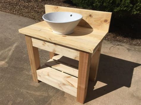 homemade bathroom sinks wholesteading com farmhouse style vanity with vessel sink
