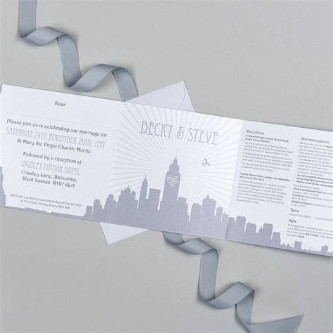 Wedding Invitations New York by New York Wedding Invitation By Fiedler Design