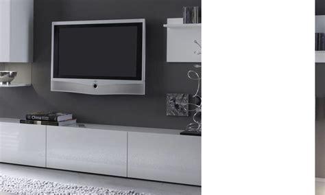 banc tv blanc laque meuble tele banc tv design laque blanc madere