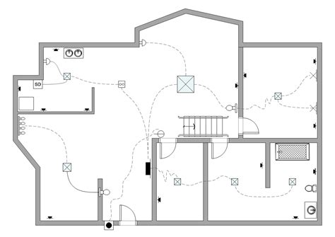 house layout plan drawing the electrical and telecom plan includes building