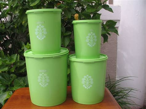Tupperware Deco Canister vintage 4 tupperware nesting decorative canister set