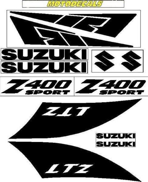 Suzuki Ltz 400 Aufkleber by Sticker Decal Emblem Graphics Kit For Ltz400 Ltz 400