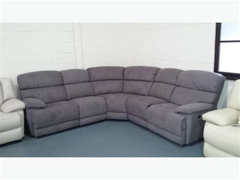 Ex Display Sofa Warehouse by Ex Display Cupola Grey Fabric Recliner Corner Sofa Outside