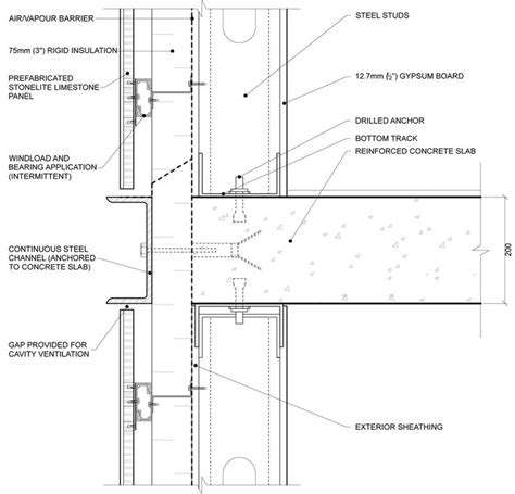 curtain wall section dwg 52 best architectural details images on pinterest