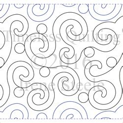 swirlalot machine quilting design digital timeless