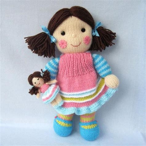 pattern knitting doll maisie and her little doll knitted dolls knitting