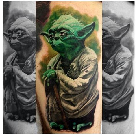 yoda tattoo star wars tats pinterest