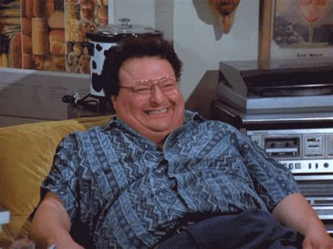 Hello Newman Meme - wayne knight laughing gif find share on giphy
