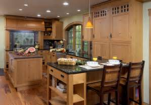 Kitchen With Island And Peninsula by Rustic Kitchens Kitchens