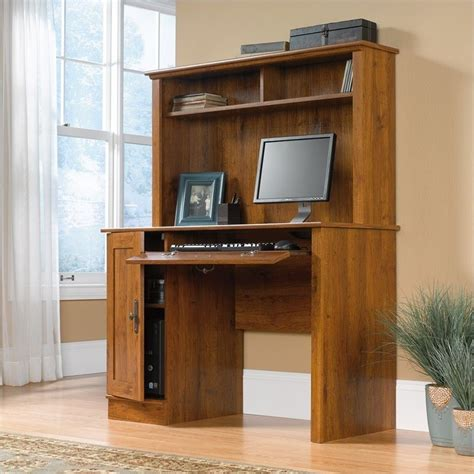 wood computer desk with hutch wood computer desk with hutch in oak 404961