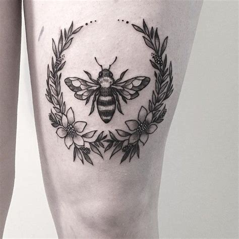 rose and bee tattoo 75 bee ideas bees tattoos bee