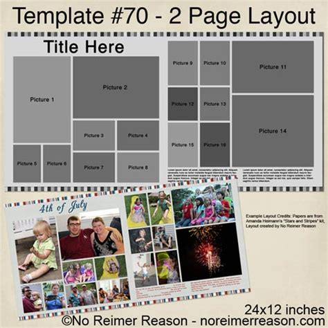 free 2 page digital scrapbook template 16 photos no