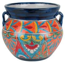 Mexican Pot Talavera Flower Pots Planters And Mexican Garden Pottery