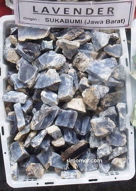 Batu Akik Iklim Tropis bahan mentah batu mulia lavender sukabumi