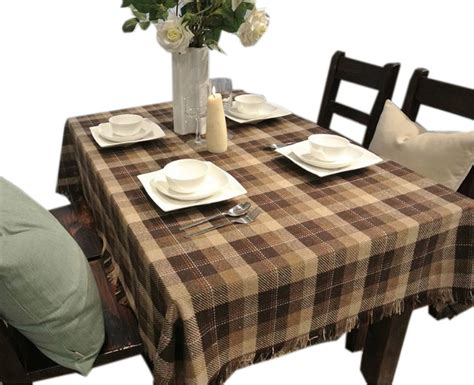 country style table runners panda superstore brown plaid country style tablecloths