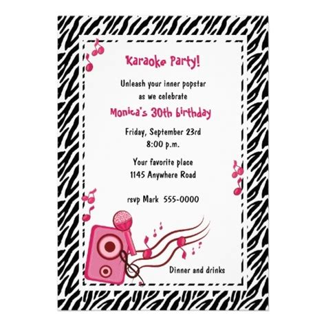 printable karaoke invitations karaoke birthday party invitation karaoke party