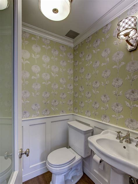 Traditional Bathroom Wallpaper Photos Hgtv