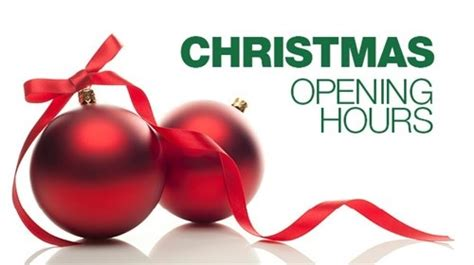 christmas opening hours christmas classes