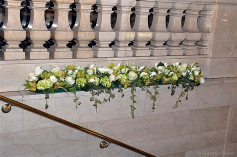 Stair Decor superior florist event florals decor