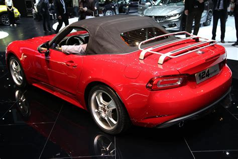 web abarth and fiat 124 spiders at geneva by car