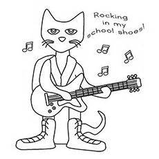 coloring page for pete the cat and his four groovy buttons pete the cat color by number pete the cat pinterest